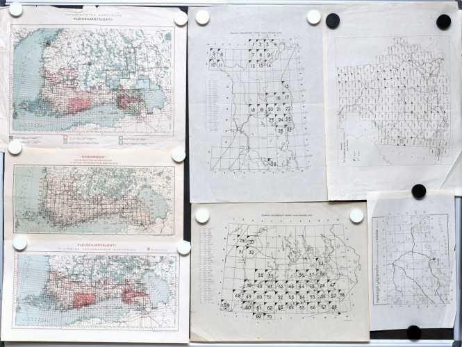 Kokoelma lehtijakokarttoja (7 kpl)