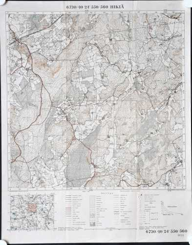 Hikiä (Topografinen kartta 1:20.000 nro 204406)