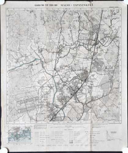 Malmi-Tapaninkylä (Topografinen kartta 1:20.000 nro 204304)