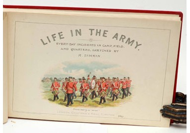 SIMKIN, R. Life in the Army. LLOYD, W.W. On Active Service. 1890