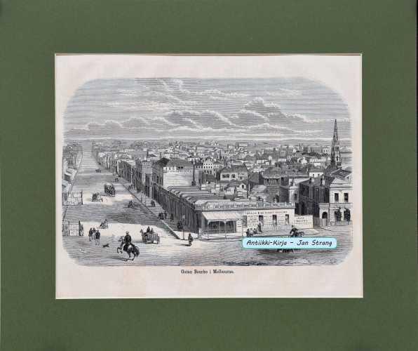 Gatan Bourke i Melboune. 1869