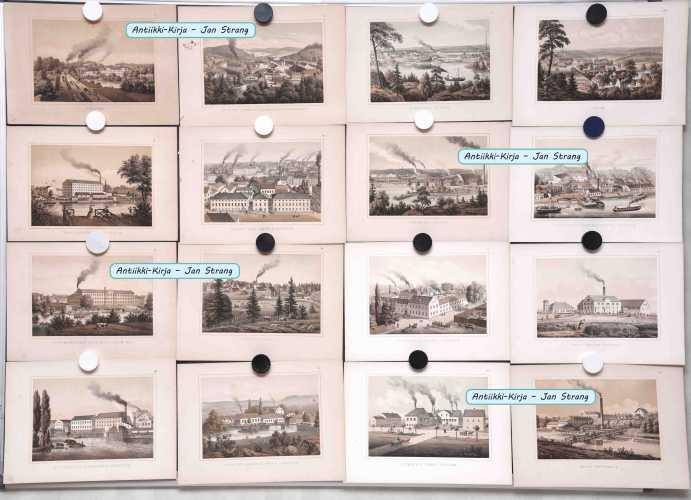 Ruotsi - 1870-luvun tehdaslitografioita (62 kuvaa)