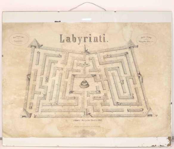 Lautapeli 1800-luvulta - Labyrinti