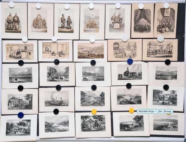 Japani ja Oseania - 1800-luvun grafiikkaa (39 kuvaa)