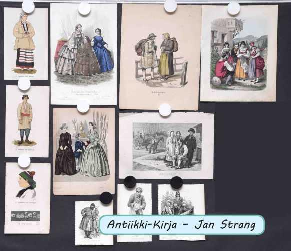 Pukukuvia1800-luvulta (11 kpl)