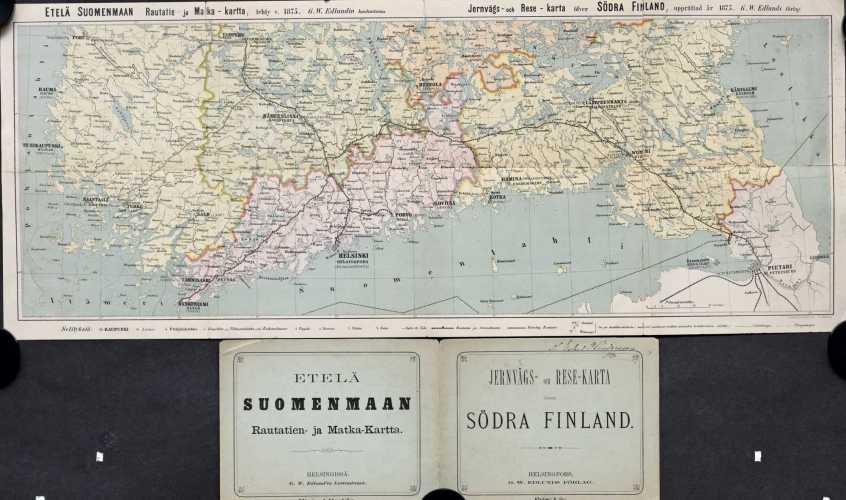 Etelä Suomenmaan Rautatien- ja Matka-Kartta