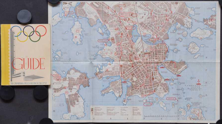 Officiel Guide. 1952 XV Olympia Helsinki.