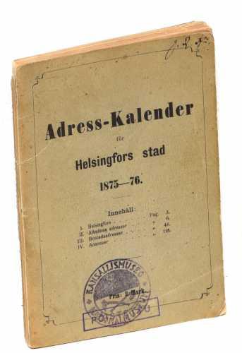 Adress-kalender för Helsingfors stad 1875-76