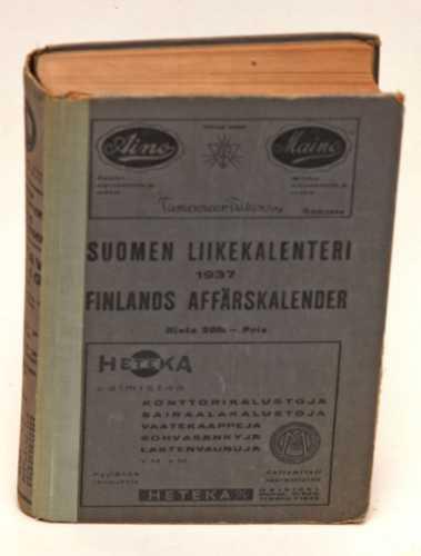 Suomen liikekalenteri. Finlands affärska¬lender. 1937