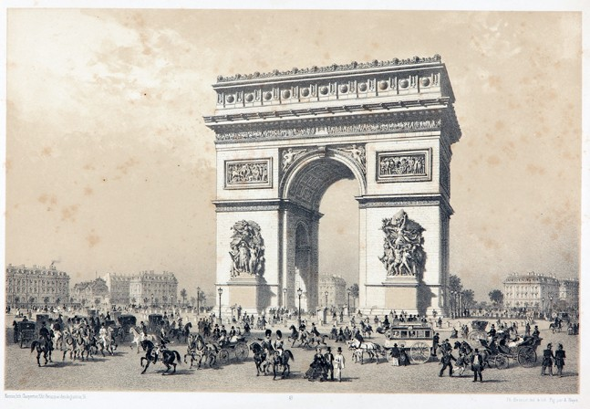 Benoistin Pariisi-litografia 1860-luvulta